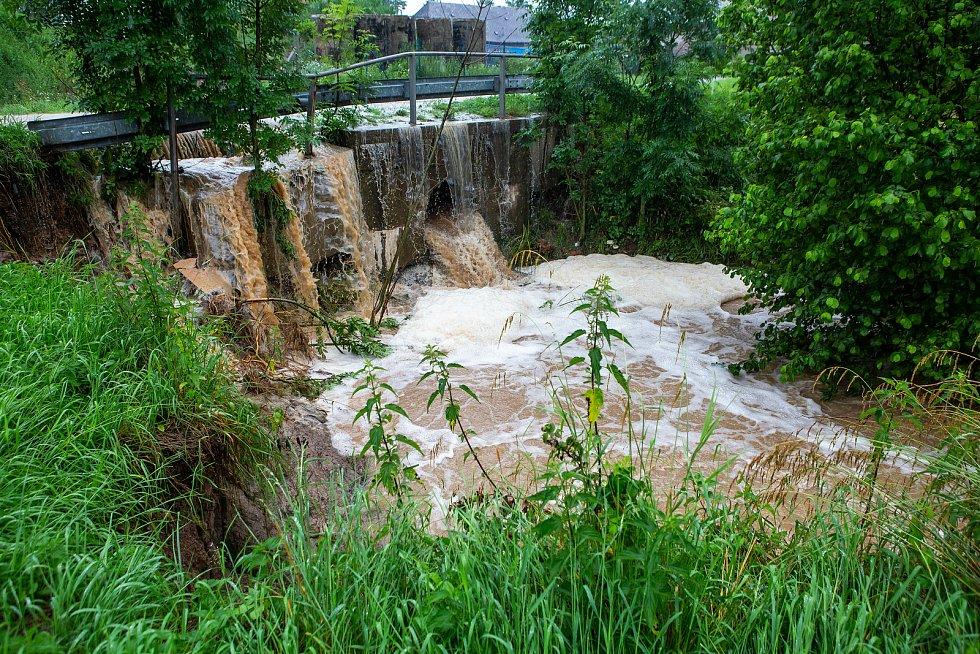 Silné deště na Rychnovsku.