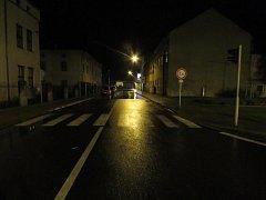 Místo nehody - přechod pro chodce v Rychnově nad Kněžnou.