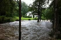 Řeka Kněžna v Panské Habrové