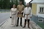V Bartošovicích vystoupila skupina historického šermu rytíři krále Jana z Ústí nad Orlicí.