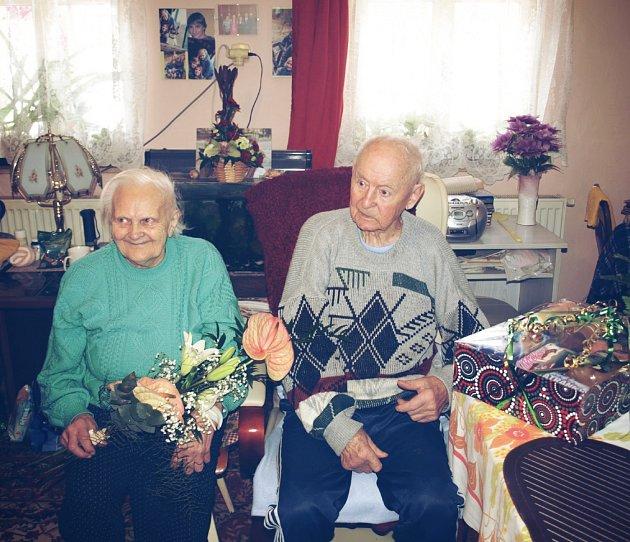 Platinová svatba manželů Teplých. Slaví 70 let společného života