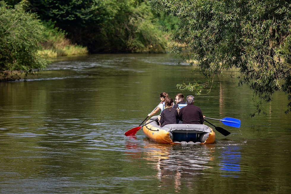 Vodáci na řece Orlici