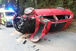 Nehoda v Orlických horách skončila zraněním.