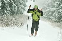 První sníh v Orlických horách
