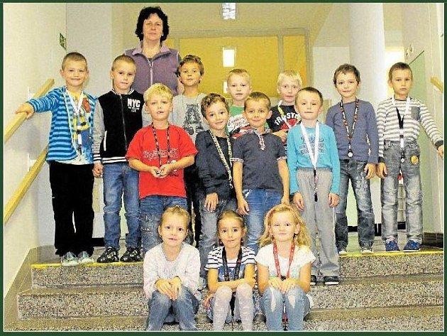 Žáci 1.třídy ze Základní a mateřské školy Javornice.