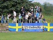 """Dva góly vstřelil do sítě Broumova Marcel Hájek a nasměroval tak Dobrušku k zisku třech důležitých """"záchranářských"""" bodů."""