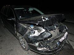 Takto skončilpo auto po srážce.