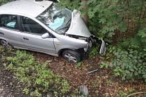 Po nárazu do stromu začalo auto doutnat.