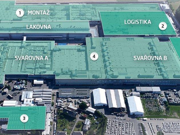 Výrobní závod v Kvasinách po rozšíření.