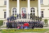 Na kosteleckém zámku probíhal výcvik hasičských sborů.