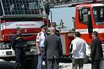 Slavnostní poklepání na základní kámen nové hasičské zbrojnice v Rychnově nad Kněžnou.
