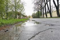 Takto vypadá silnice v Českém Meziříčí.