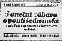 Historický plakát Prázova hostince.