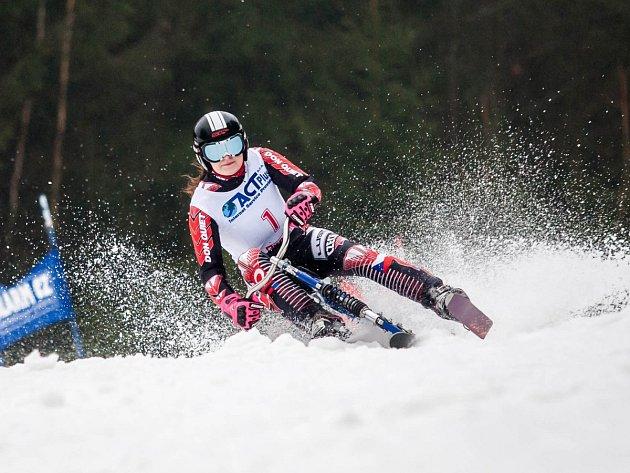 PRVNÍ TITUL mistryně světa vybojovala ve slalomu dobrušská Stanislava Preclíková.