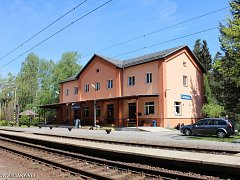 Historické nádraží v Čermné nad Orlicí.