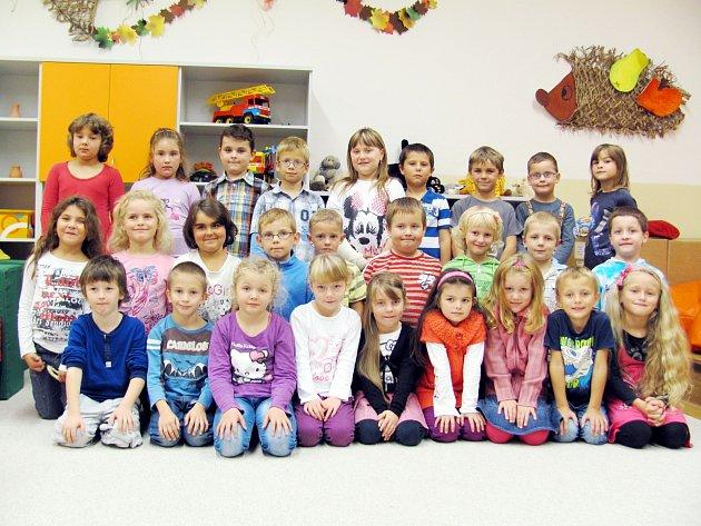 Školáci z 1. třídy Základní školy v Borohrádku