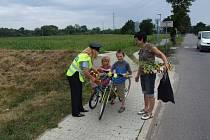 """""""Vidíš mě?"""" Policisté radili cyklistům s bezpečností"""