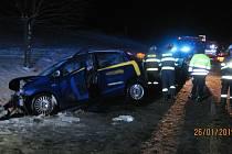 Dopravní nehoda dvou osobních automobilů u Bílého Újezdu.