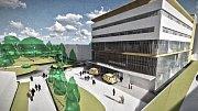 Vizualizace pavilonu urgentního příjmu rychnovské nemocnice.