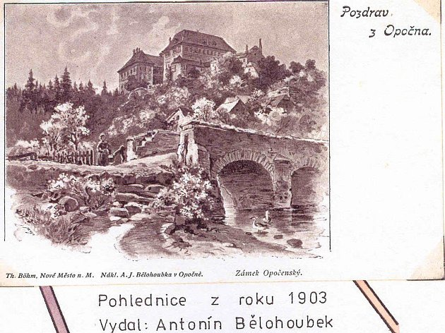 Pohlednice z roku 1903.