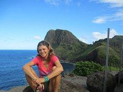 KRISTÝNA VAVŘÍNOVÁ na pobřeží Havajských ostrovů.
