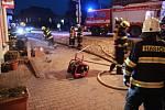 Ze zásahu při požáru v Kostelci nad Orlicí.