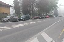 Komenského ulice v Kostelci nad Orlicí.