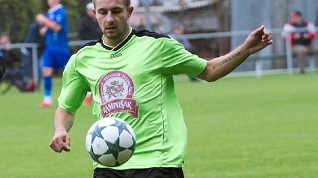 Gól Jiřího Kořínka zajistil Dobrušce výhru na hřišti B-týmu Trutnova.
