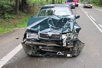 U Rybné nad Zdobnicí došlo k hromadné nehodě dvou osobních a jednoho nákladního vozidla.