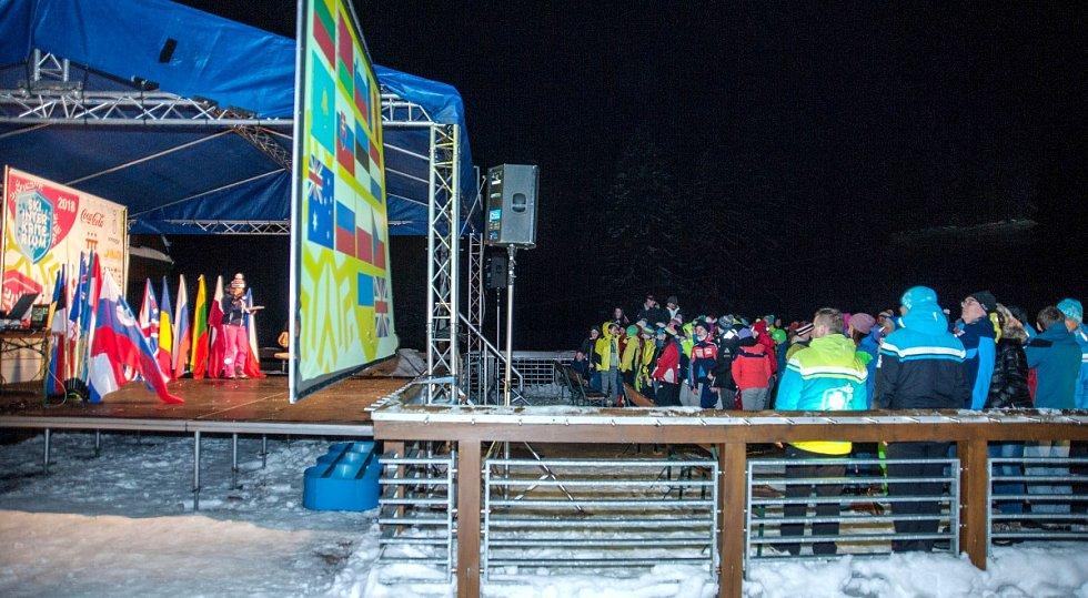 Lyžařské Skiinterkriterium v Říčkách v Orlických horách.