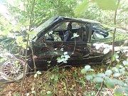 Dopravní nehoda dvou osobních automobilů u Merklovic.