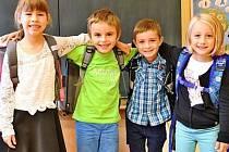 Prvňáčci ze Základní školy Kvasiny.