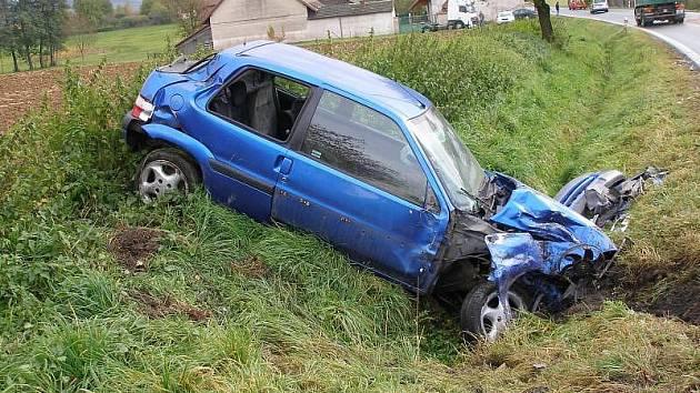 Dopravní nehoda u Lupenice