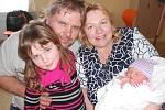 Šárka Karásková se narodila 13. ledna 2019 ve 2.27 hodin s váhou 3 130 g a délkou 48 cm. Radují se z ní maminka Jana Bednaříková a tatínek Petr Karásek z Čermné nad Orlicí i sestřička Janička. Tatínek byl u porodu a zvládl to na jedničku.