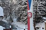 Hraniční přechod v Bartošovicích v Orlických horách.