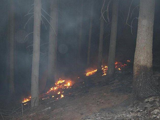 Nezabezpečené pálení klestu na deseti ohništích způsobilo požár