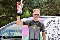 TRIUMF. Dominik Chlupáč si nejlépe poradil s nástrahami horské časovky a radoval se z nového rekordu.