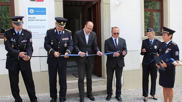 Otevření policejní služebny v Solnici.