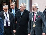 Návštěva prezidenta Miloše Zemana v Kostelci nad Orlicí.