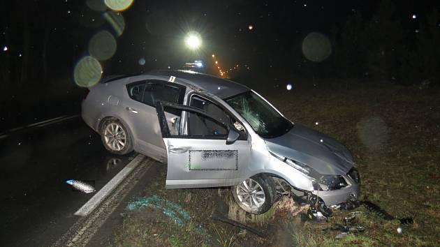 Dopravní nehoda mezi obcemi Bílý Újezd a Chábory.