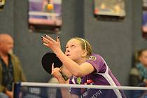 JEDINÝ BOD pro doberské barvy v úvodním čtvrtfinálovém zápase play off ve Frýdlantu získala Daniela Rozínková.