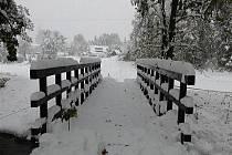 Sněhová nadílka v Orlických horách.