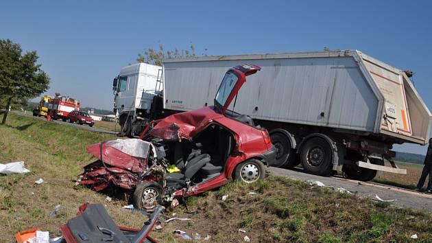Dopravní nehoda u Podbřezí