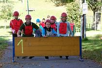 Děti z domova v roli malých hasičů nezklamaly