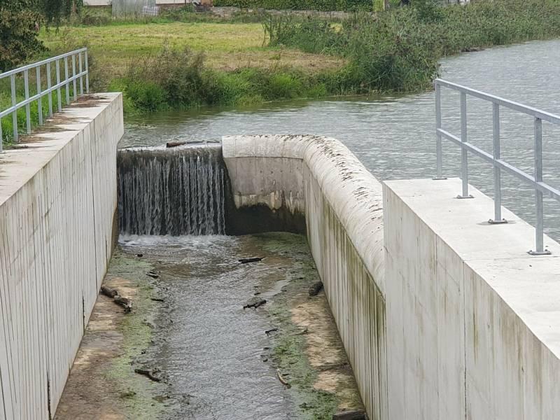 Z hoděčínské vodní nádrže.