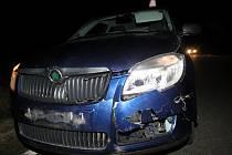 Řidiči škodovky jedoucímu od Přestavlk na Rájec náhle vběhl před vozidlo srnec.