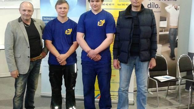 Školu reprezentovali žáci třetího ročníku David Chaloupka a Vojtěch Drábek, kteří vybojovali první místo v kategorii družstev.
