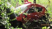 Tragická havárie osobního automobilu u Bolehoště.