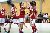 RADOST. Prvoligové florbalistky FBC Dobruška byly ve víkendových zápasech úspěšné z poloviny, když po prohře s SK Jihlava získaly všechny  body s FBŠ Jihlava.