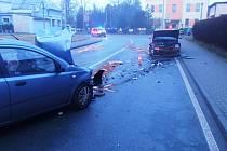 Úterní ranní nehoda v Častolovicích